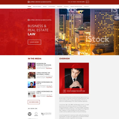 Business And Law Weebsite design
