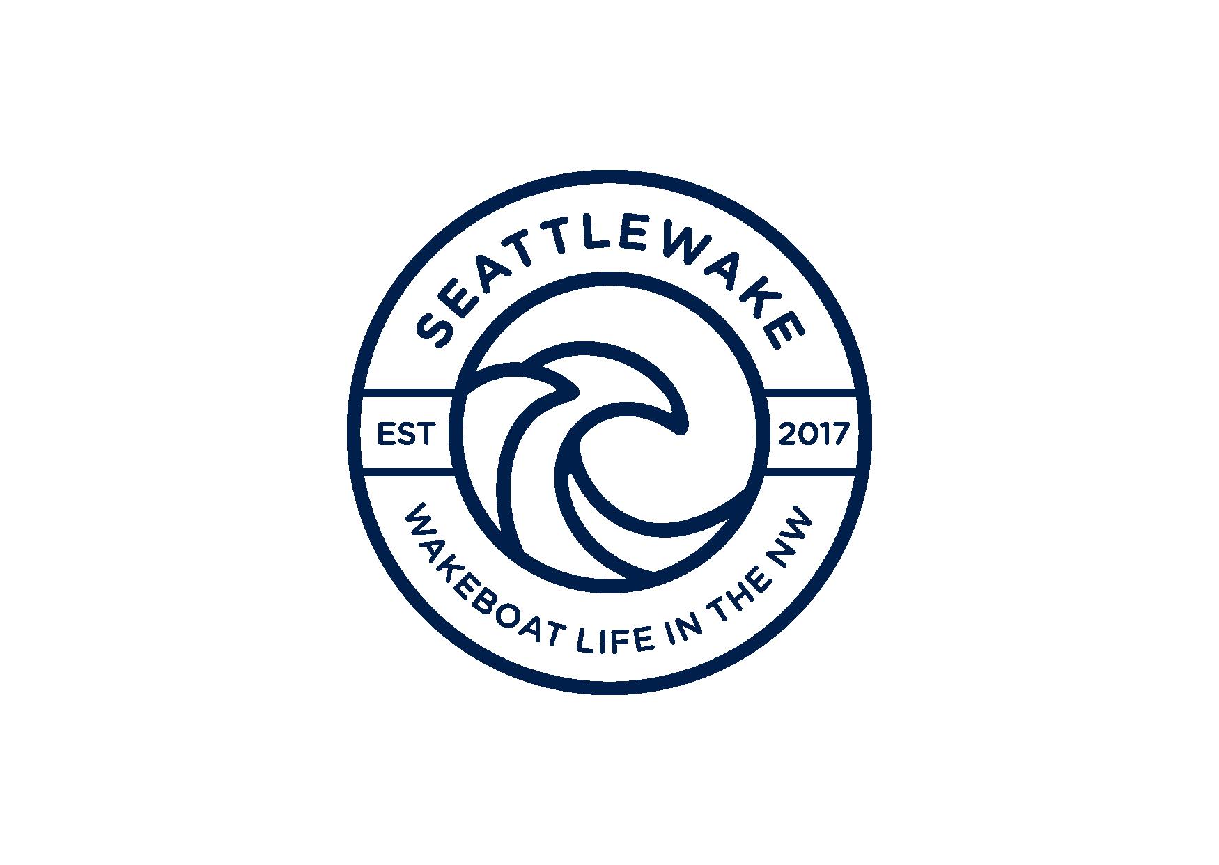 NEW logo for seattlewake -  wakesurfing logo