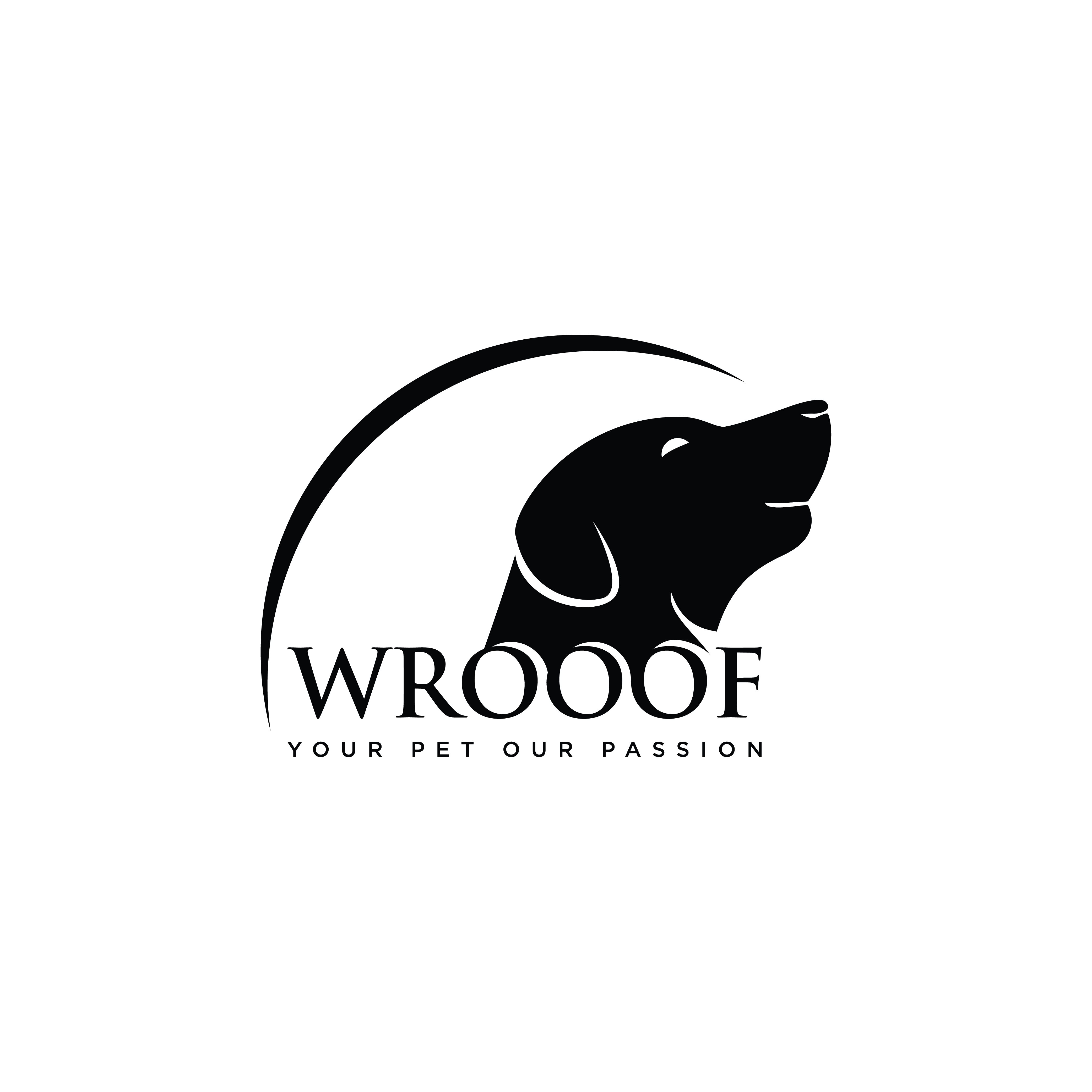 """""""Design a great and powerful logo for new Pet brand called Wrooof"""""""