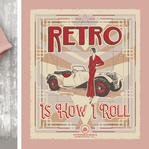 Antique Auto & Fashion T-shirt design