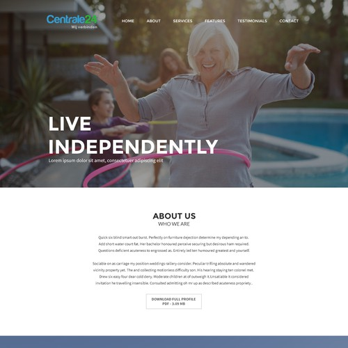 Retirement Website Design