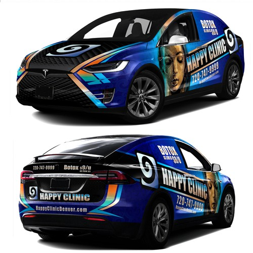 AWESOME CAR WRAP DESIGN for Happy Clinic