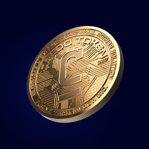 Gold coin of the crypto currency