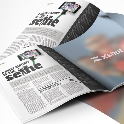Magazine: custom page layout