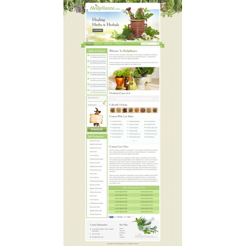 Outstanding Webdesign for pure natural healing herbs