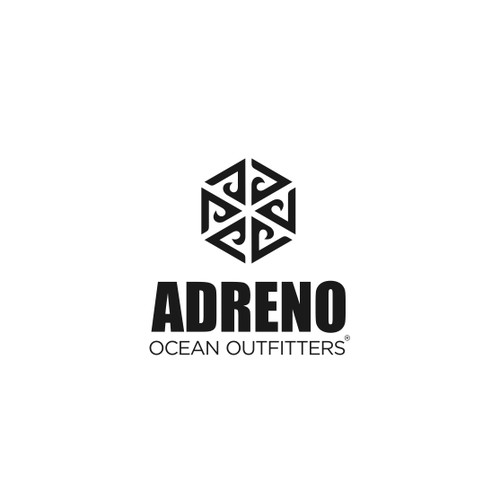 "Logo for ""ADRENO Ocean Outfitters"""