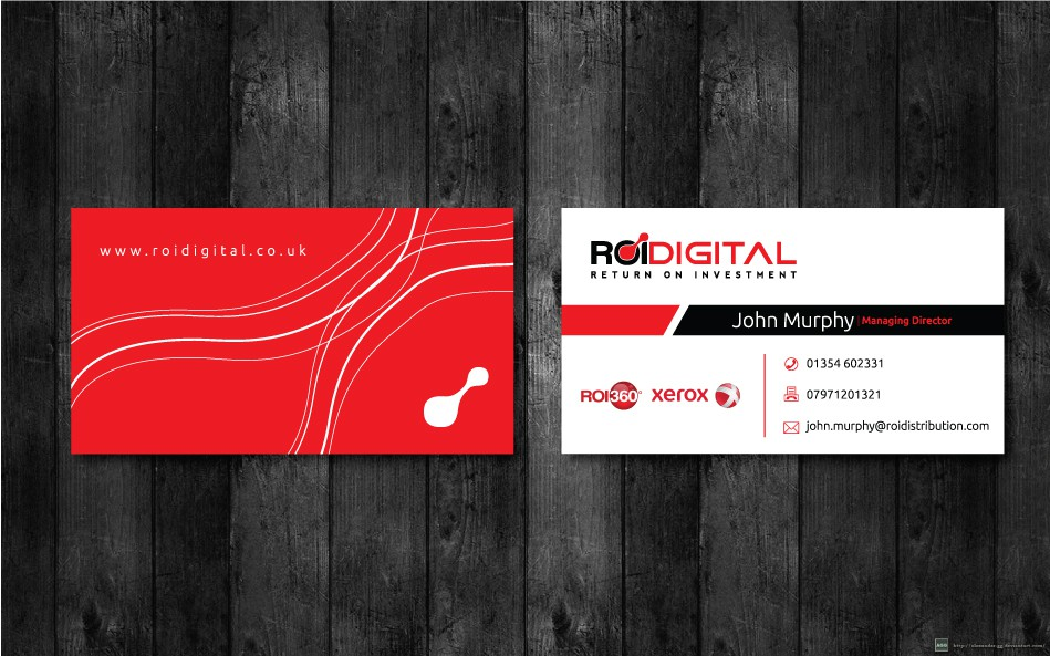 ROIdigital need talented designer to create business card and electronic letterhead