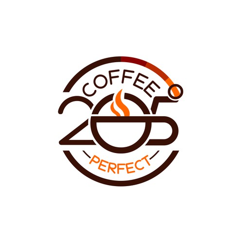 Abstract badge for a Coffe Brand