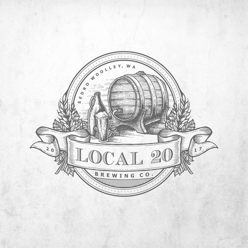 Vintage Organic Logo for Local Craft Beer