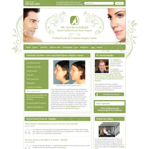 New website design wanted for Portland Laser & Cosmetic Surgery Center