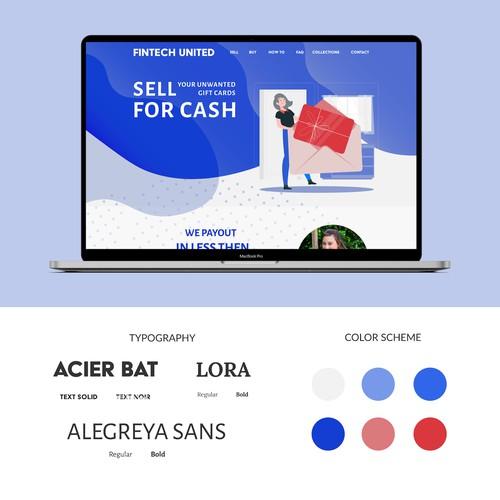 Web Design - gift card website re-design