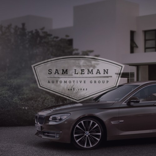 Clean Modern Industrialized Logo - Sam Leman Automotive Group - 7 stores - 7 franchises