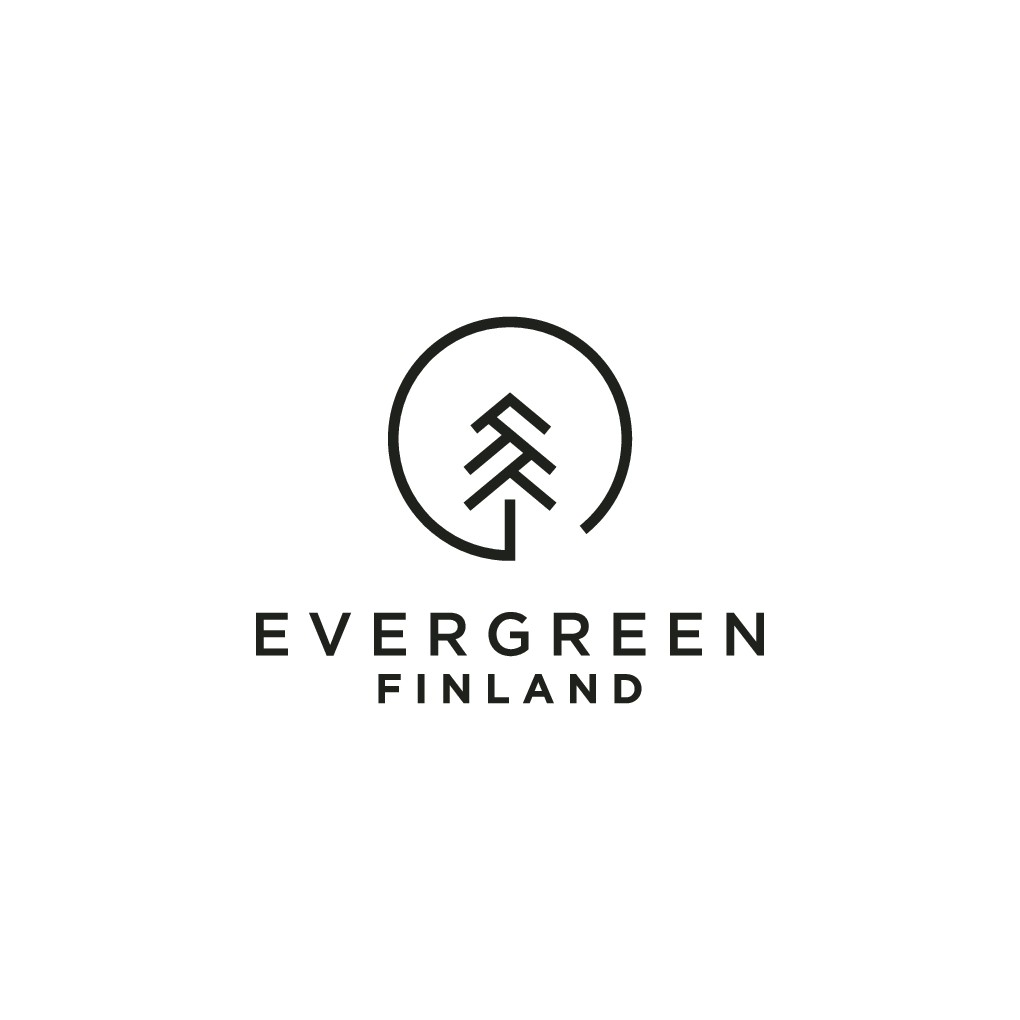 Design a sustainable logo for Evergreen Finland