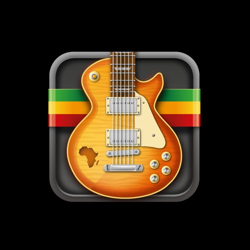 Icon design for app teaching African guitar styles