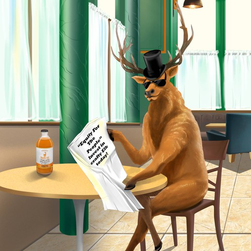 Elk reading newpapers