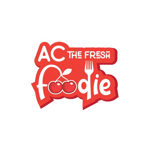 Logo for a food podcast