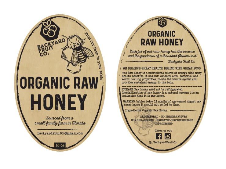We need a creative raw honey label