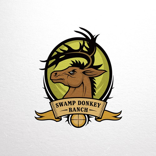Horned Donkey Mascot Logo