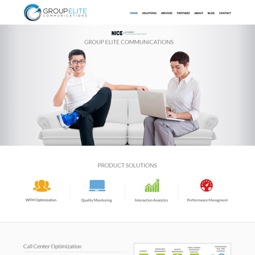 Modern web landing page for a technology company.