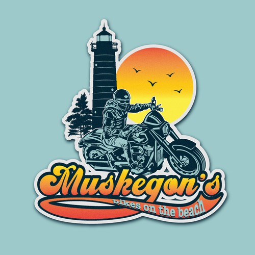 muskegon's biker logo