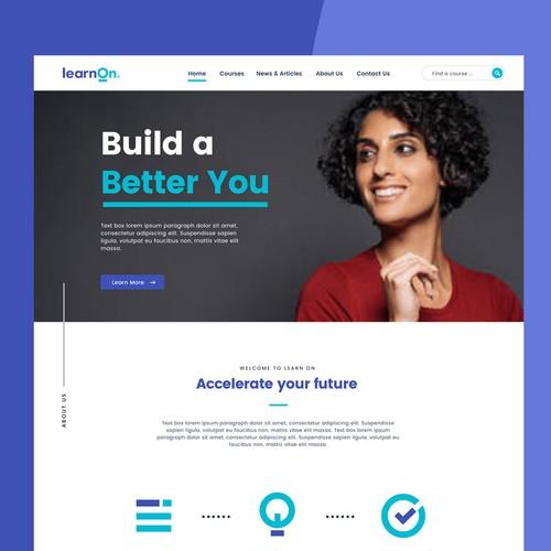 Modern e-learning web design