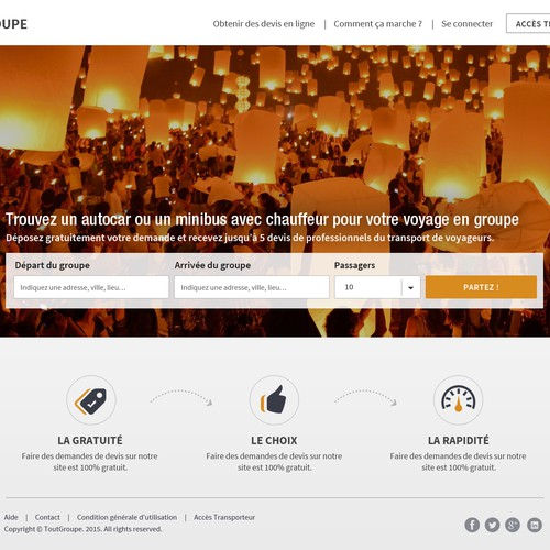 Landing Page For ToutGroupe