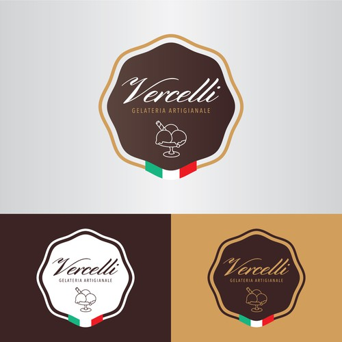 Logo concept for a ice cream shop