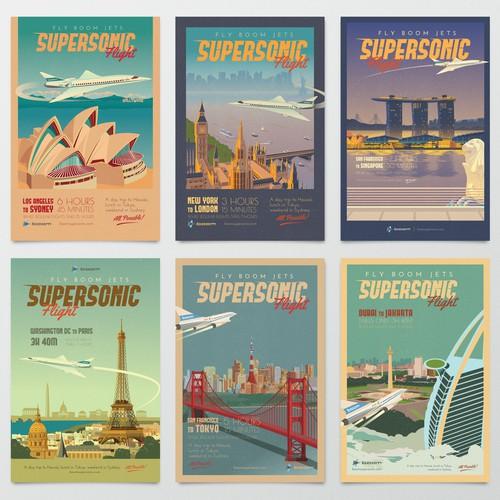 Boom Jets Travel Poster