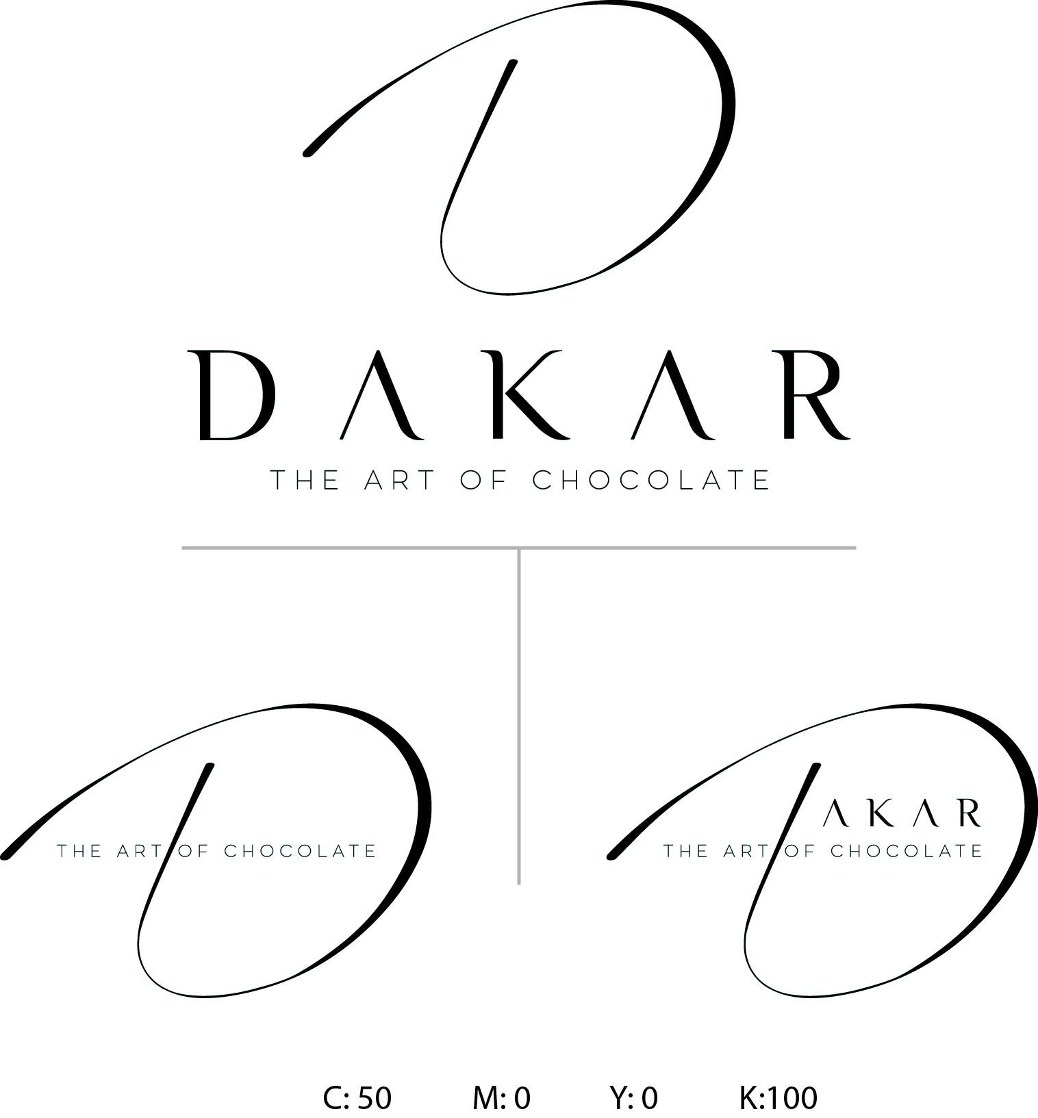 A new and modern chocolate brand logo