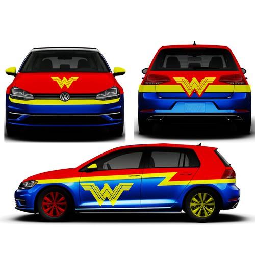 Wonder women car
