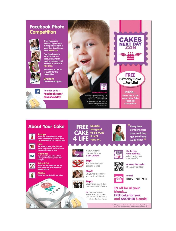cakesnextday.com needs a new brochure design