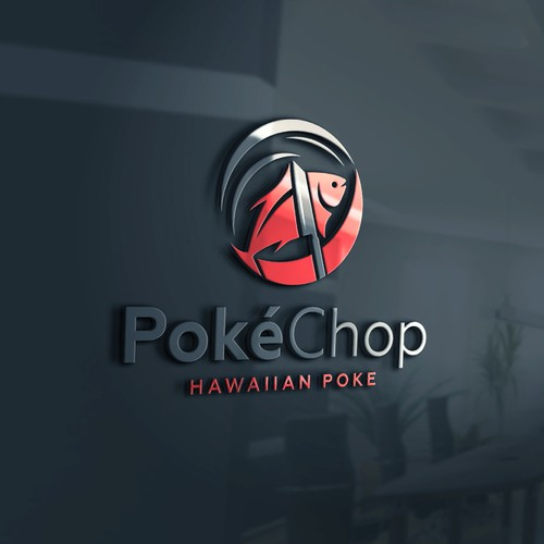 Hawaiian Poke logo design