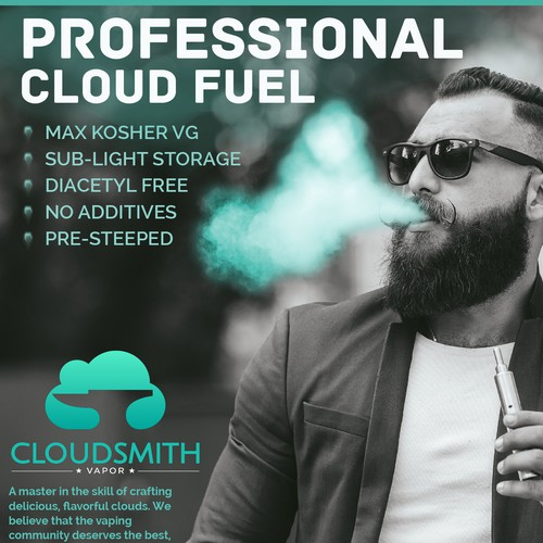 Bold Print Ad for CloudSmith