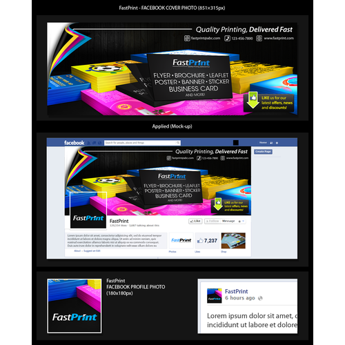 Create a winning facebook cover for Fastprint