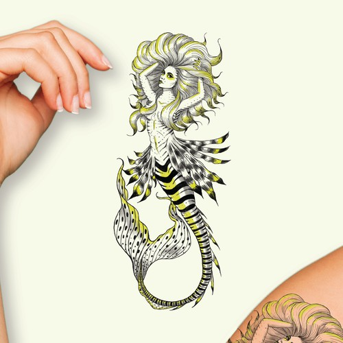 Mermaid tattoo design