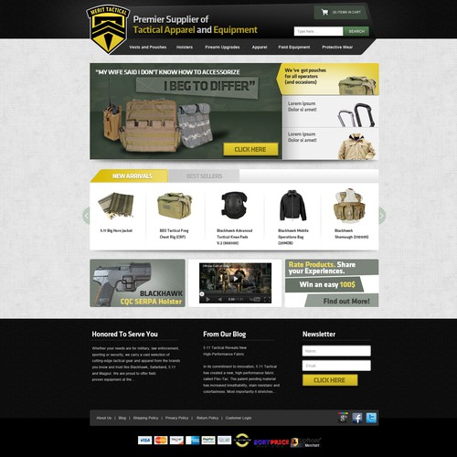 Merit Tactical needs a new website design