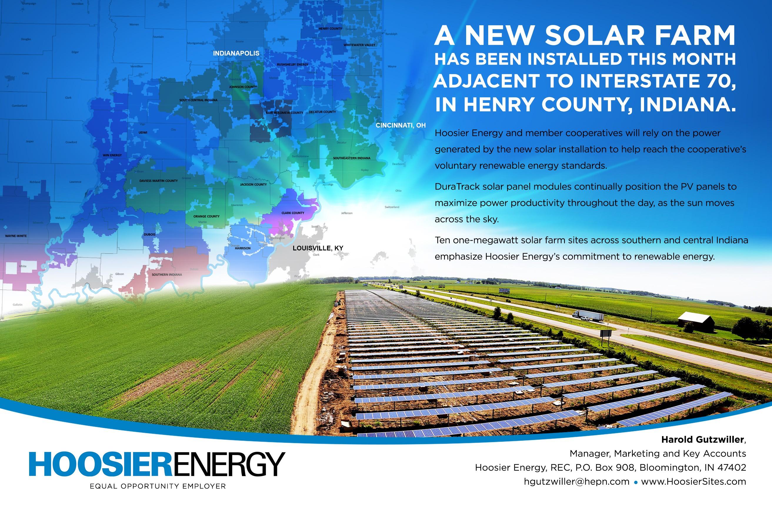 Hoosier Energy Solar Energy Promo Postcard