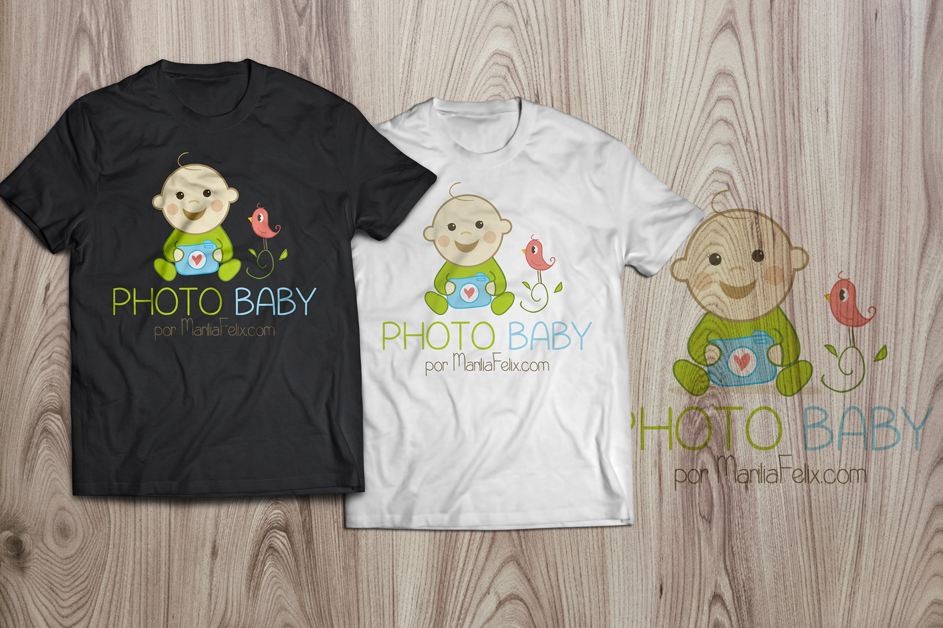 Vintage Clean Logo Is Needed For A Baby Photo Studio