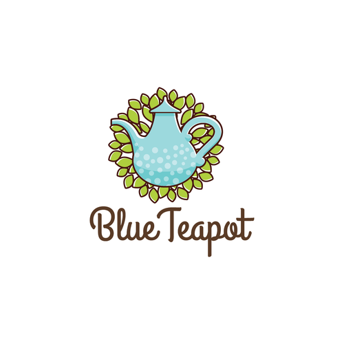 "Create the best logo for the ""Blue Teapot"" tearoom in France"