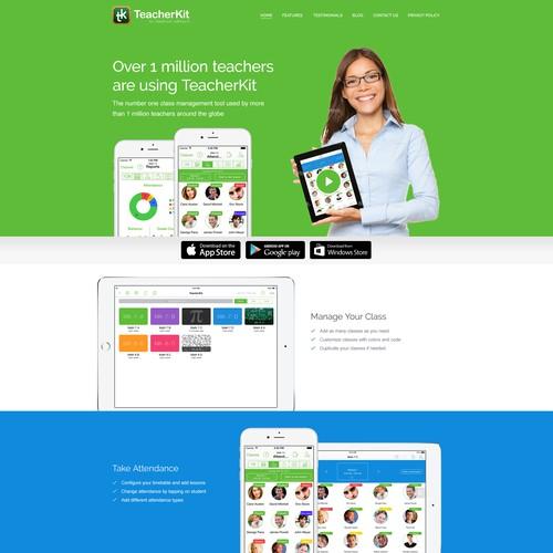 Create a new landing page for TeacherKit
