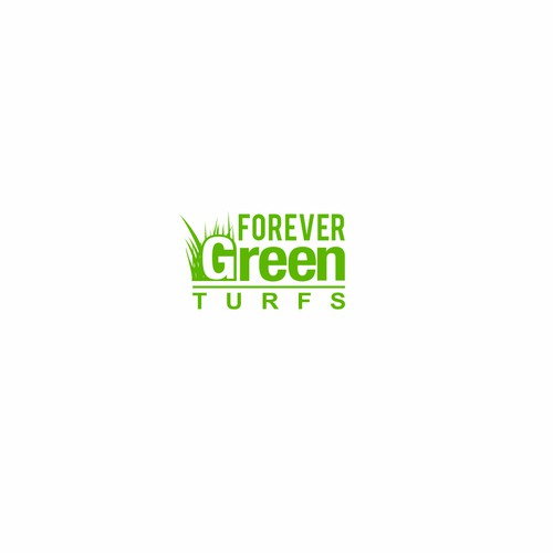 Logo for company distributing high-quality, realistic natural-looking synthetic turfs.