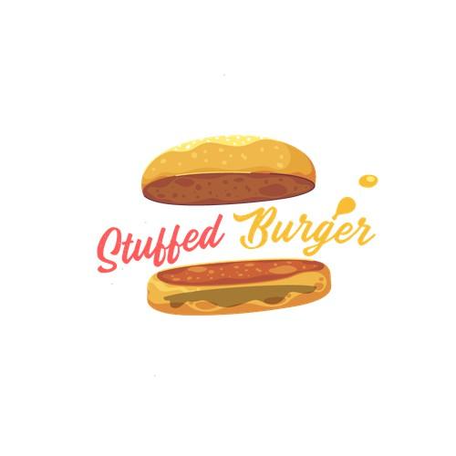 Food Cart Burger Logo