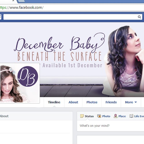 Facebook cover for artist