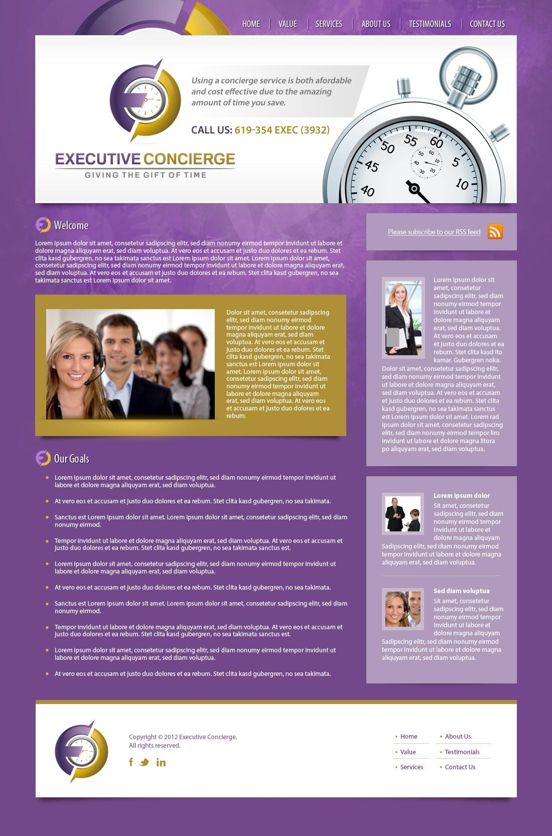 website design for www.executivepro.com