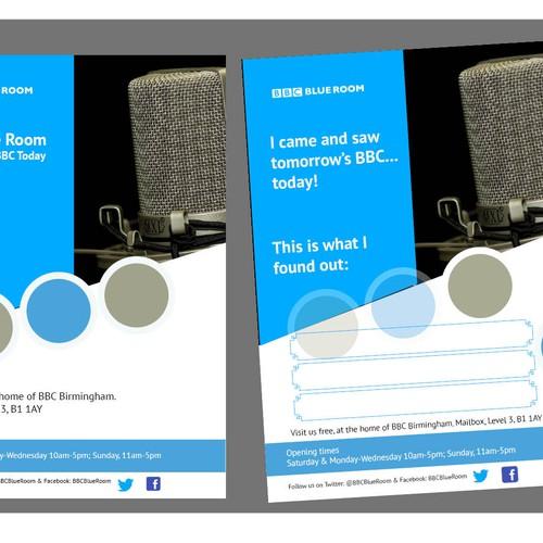Leaflet for BBC Blueroom
