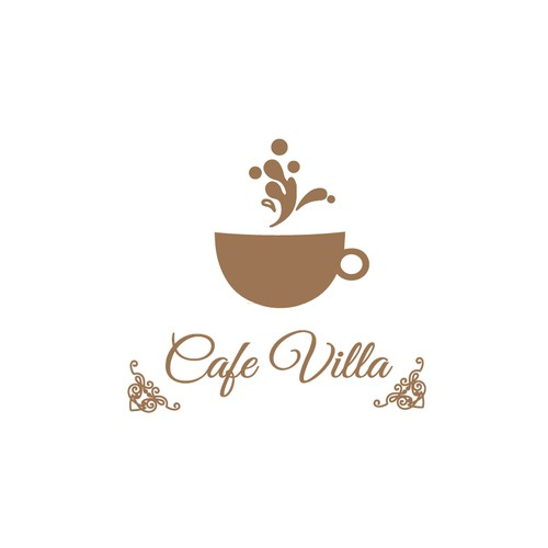 logo concept for cafe villa