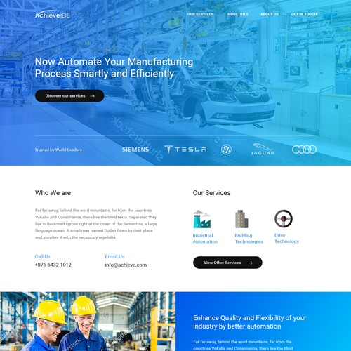 Webpage for Smart Manufacturing Software Company