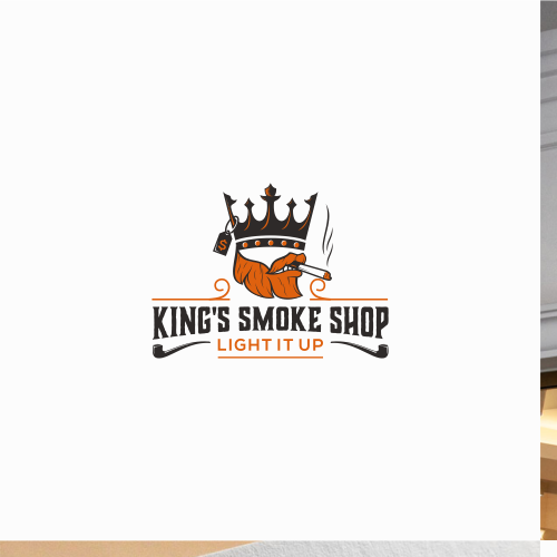 Logo design for King's Smoke Shop