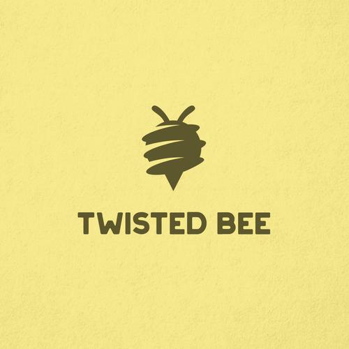Unique bee logo for a 100% organic hemp wick brand