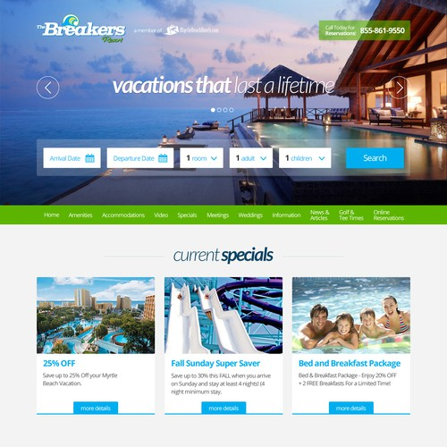 Design an Oceanfront Resort Website